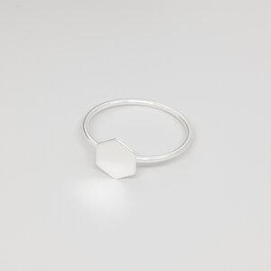 Ring 'shiny hexagon' - fejn jewelry