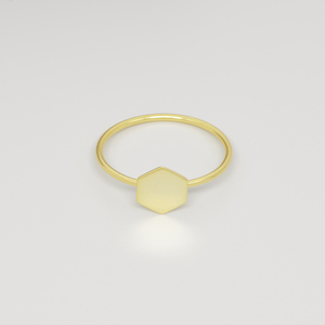 Ring 'shiny hexagon' - fejn jewelry