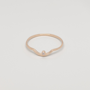 Ring 'sparkle curved' - fejn jewelry