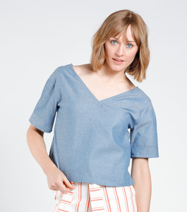 Bluse LEELA denim blau - [eyd] humanitarian clothing