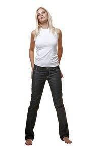 Faire Bio Damen Jeans Nahtfarbe weiß - bill, bill & bill