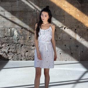 Kleid Tiny Garden Weiß Bio Fair - THOKKTHOKK