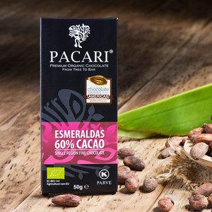 Bio-vegane Schokolade PACARI ESMERALDAS - Pacari