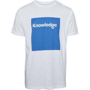 T-Shirt - T-Shirt with square logo - KnowledgeCotton Apparel