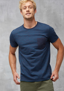 T-Shirt Pocket #WAVES blau  - recolution