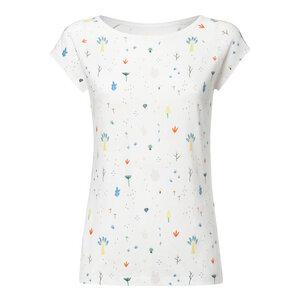 Damen T-Shirt Tiny Garden Weiß Bio Fair - THOKKTHOKK