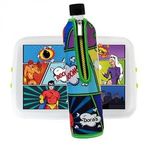 Comic Box mit Glas Trinkflasche im Bezug - Dora