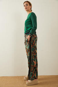 Hose aus Tencel Print Yves Garden - LANIUS