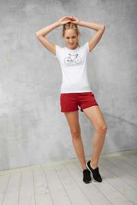 T-Shirt Basic #RENNRAD weiß - recolution
