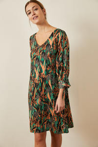 Kleid aus Tencel Print Yves Garden - LANIUS