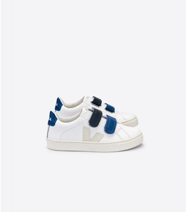 Sneaker Kinder - Esplar Kids Leather - Extra White Pierre Blue - Veja