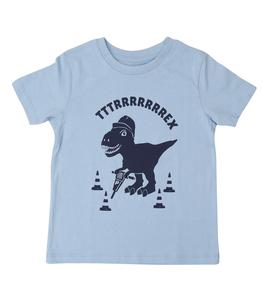 Theo Tttrrrrex der Bauarbeiter Dino - Fair Wear Kinder T-Shirt - päfjes