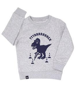 Theo Tttrrrrex der Bauarbeiter Dino - Fair Wear Kinder Sweater  - päfjes