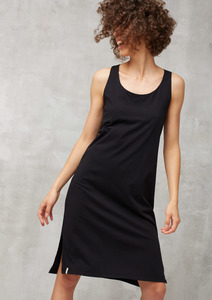 Jerseykleid Ärmellos schwarz - recolution