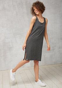 Jerseykleid Ärmellos schwarz weiß gestreift - recolution