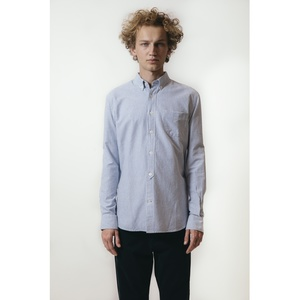 Hemd - Button Down Oxford Shirt Striped - Skyway - KnowledgeCotton Apparel