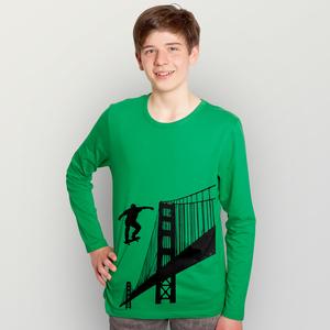 """""""Golden Skate Bridge"""" Männer Longsleeve - HANDGEDRUCKT"""