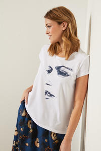 "Charity Shirt ""Face"" aus Bio-Baumwolle GOTS - LANIUS"