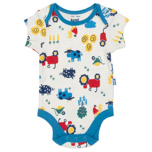 Baby Kurzarm-Body Bauernhof - Kite Clothing