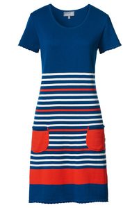 Kleid 'Stella' gestreift, marine/rot - Seute Deern