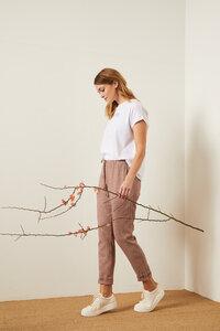 Karo-Hose aus Hanf mit Bio-Baumwolle - LANIUS