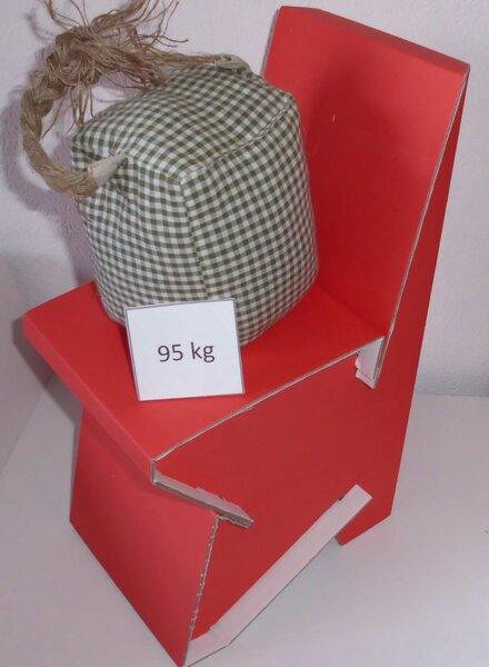 Stuhl aus pappe als mamas stuhl in rot von papp la papp - Stuhl aus pappe ...