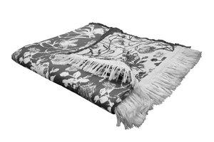 Flower Cuvée (Wohndecke) Bio Baumwolle - auch als Tagesdecke ideal  - Adam -Natürlich Wohnen