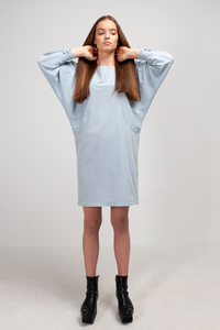 MERYL - Damen Kleid in Chambray-Optik aus Bio-Baumwolle - SHIPSHEIP