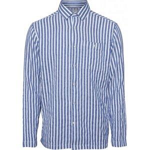 Hemd - Short striped Shirt - Olympia Blue - KnowledgeCotton Apparel