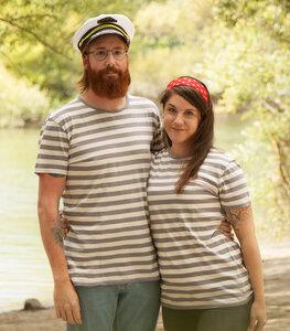 päfjes - Streifen/Striped T-Shirt - Fair gehandeltes Unisex T-Shirt - päfjes