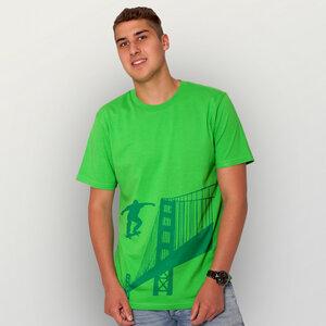 """Golden-Skate-Bridge"" Männer T-Shirt - HANDGEDRUCKT"