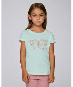 T-Shirt Mädchen mit Motiv / Worldmap  - Kultgut