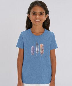 T-Shirt Mädchen mit Motiv / Federn - Kultgut