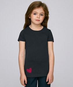 T-Shirt Mädchen mit Motiv / Daumenabdruck Herz - Kultgut