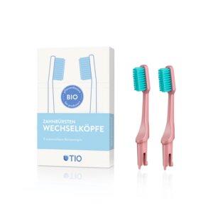 TIO Zahnbürsten Wechselköpfe - 2er Pack - Soft - TIO