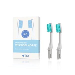 TIO Zahnbürsten Wechselköpfe - 2er Pack - Medium - TIO