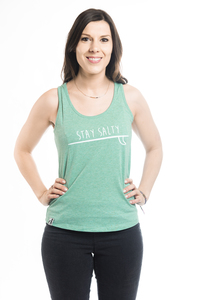 "Tank Top ""STAY SALTY"" - ecolodge fashion"
