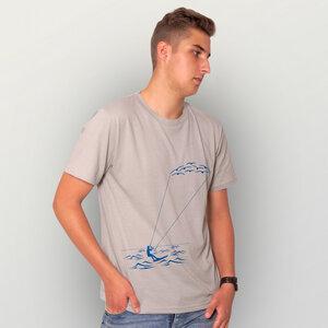 """""""Kitesurfing"""" Männer T-Shirt  - HANDGEDRUCKT"""