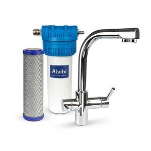 Wasserfilter Startset COMFORT mit 3-Wege-Armatur und Aktivkohlefilter - Quellnatura