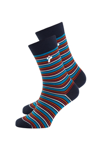 Socks Basic gestreift bunt - recolution