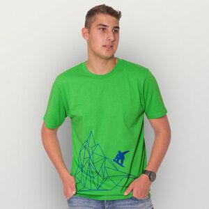 """Origamipiste"" Männer T-Shirt - HANDGEDRUCKT"
