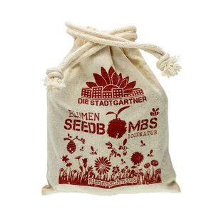 """8 Seedbombs """"Bienenschmaus"""" im Mini-Jutebeutel - Die Stadtgärtner"""