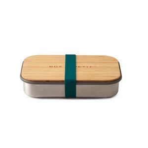 """Lunchbox """"Sandwich Box"""" aus Edelstahl mit Bambusdeckel - Black + Blum"""