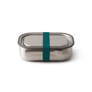 """Auslaufsichere Lunchbox """"Steel Lunch Box"""" aus Edelstahl inkl. Gabel - Black + Blum"""