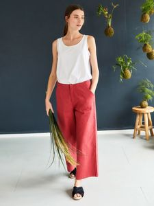 Stoffhose - Osvaldo Trousers – Rot - Thought | Braintree