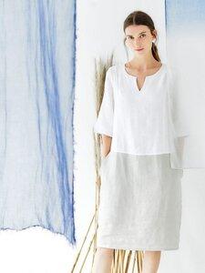 Kleid aus Hanf - Rosabel Dress - Mehrfarbig - Thought