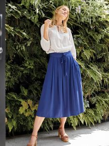 Rock - Sandreen Skirt - Blau - Thought