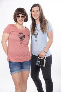 "Damen T- Shirt ""Balloon"" in salty rose und sky blue - ecolodge fashion"