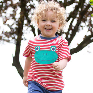 Baby / Kinder T-Shirt Frosch  - Kite Clothing
