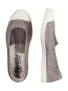 Vegan Damen Ballerina washed - Elastico Central Enzimatico  - natural world